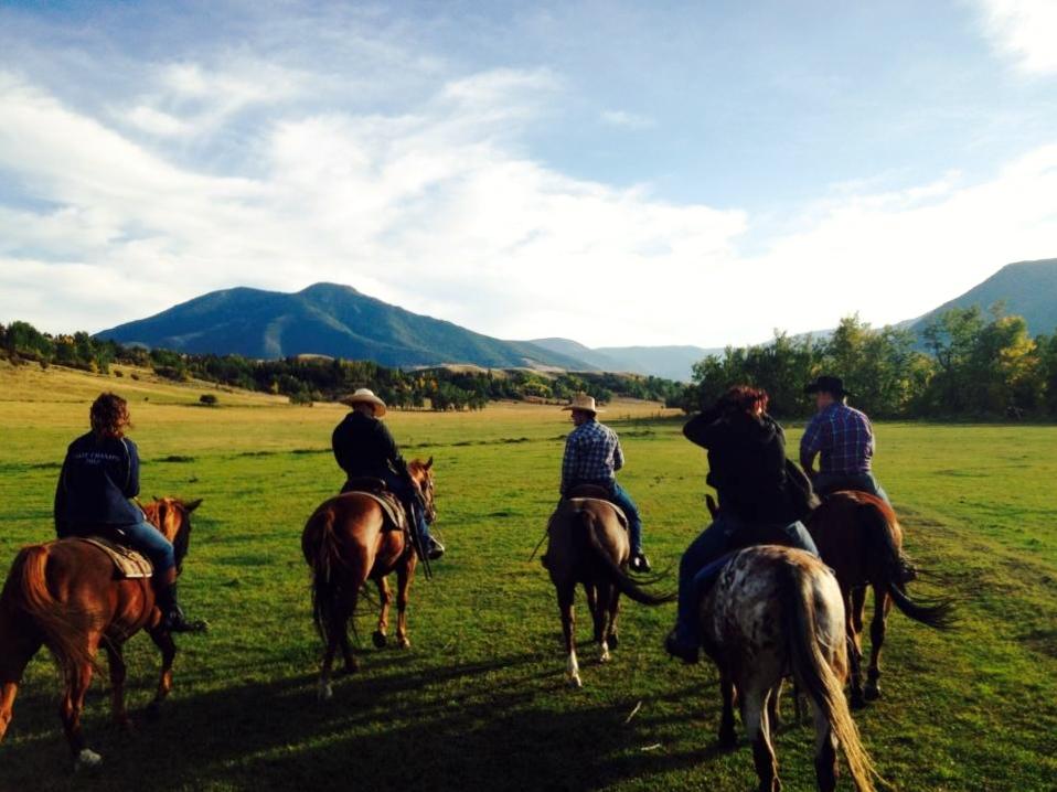 Horseback ride Red Lodge Montana 2015