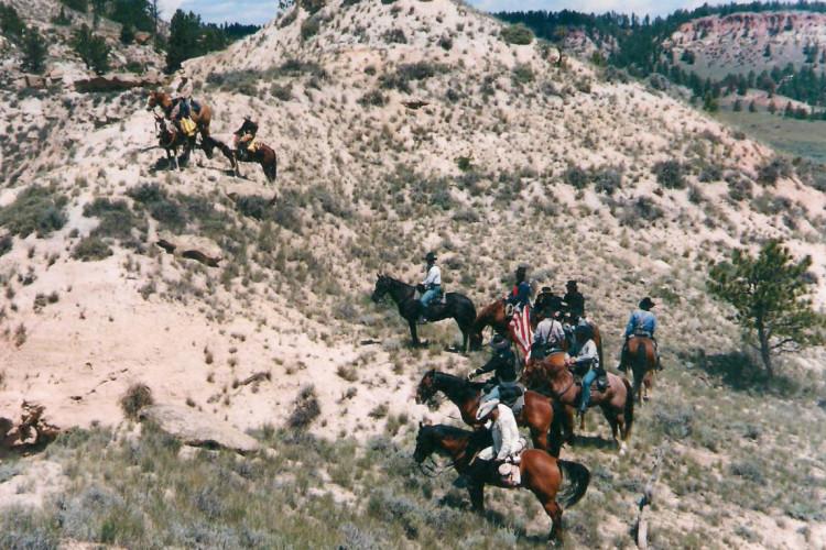 Montana history riding horses horse ride 002